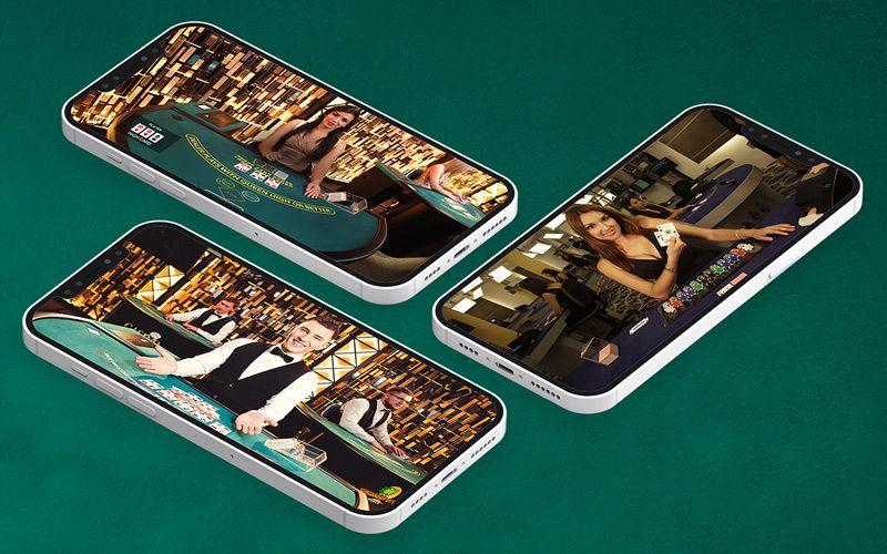 Jogos ao vivo com dealer mobile